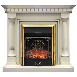 Камин Royal Flame Dallas с Majestic FX BR слоновая кость с патиной