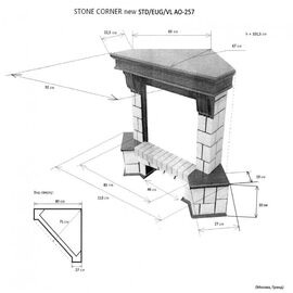 Камин RealFlame Stone New Corner (угловой) AO c Eugene