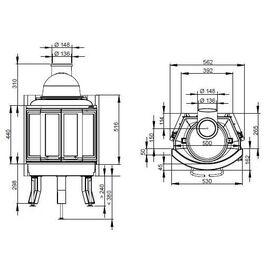 Топка NORDPEIS NI-22 складные дверцы