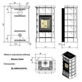 Печь Kratki Blanka 8 kW stove крем