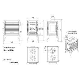Печь Kratki Koza K10 термостат