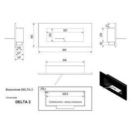 Биокамин Kratki DELTA 2 HORIZONTAL (400*900) TUV