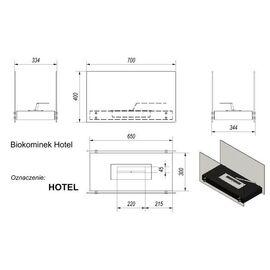 Биокамин Kratki HOTEL черный TUV