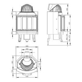 Топка Nordpeis NI-25 складные дверцы