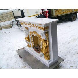 Портал Kaminopt Атлант и Кариатида из Мрамора Крема Нова