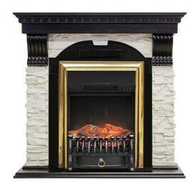 Камин Royal Flame Dublin с Fobos FX BR сланец белый/темный дуб