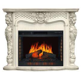 Камин Royal Flame Castle Слоновая кость с очагом Vision 30 EF LED FX