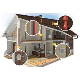 Комплект вентиляции Vilpe 190 коричневый
