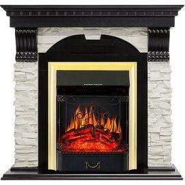 Камин Royal Flame Dublin с Majestic FX BR сланец белый/темный дуб